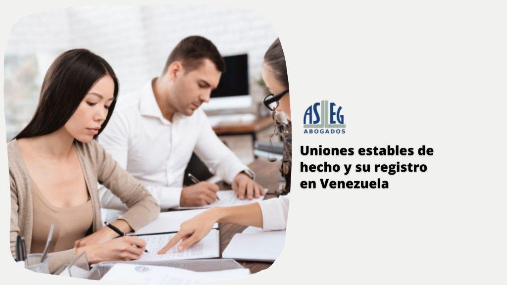 Uniones estables de hecho y su registro en Venezuela